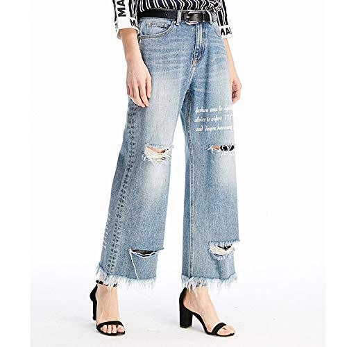 M Jeans E Xl Azzurro Gambe Buchi Mvguihzpo Larghe Vita Pantaloni Jeans Donna SqxTwEF1P