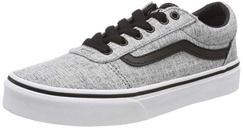 Vans Kids Boys Ward Gs Fabric Low Top Lace Up, Grey Textile, Size 7 M Us Youth