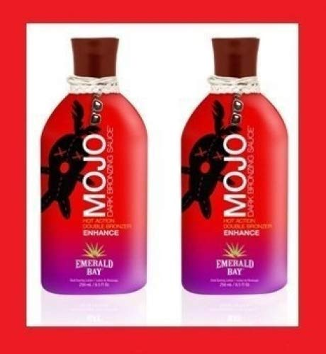 (2 X Emerald Bay Mojo Hot Bronzing Bottle Sunbed Cream)