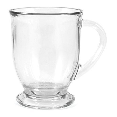 Anchor Hocking Glass 16 Ounce Cafe Mug, Set of 2