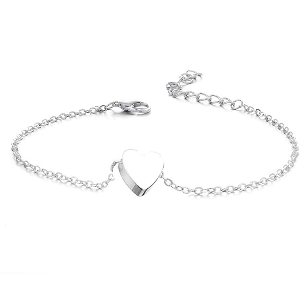Ethnic Heart Shape Anklet Ankle Boho Beach Foot Anklets Jewelry Beach Summer Barefoot