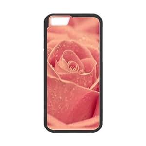 [Funny Series] IPhone 6 Plus Case Flower 181, Luxury Case for Iphone 6 Plus Case Okaycosama - Black