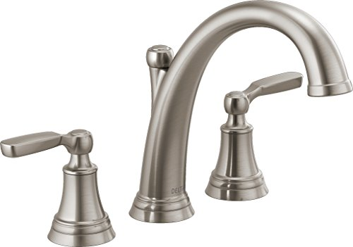 (Delta T2732-SS Woodhurst Roman Tub Trim, Stainless (Valve sold separately))