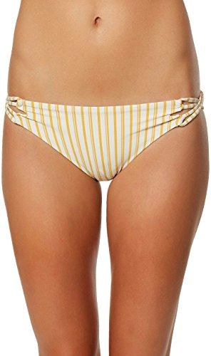 Highway Stripe (O'Neill Women's Highway Stripe Bikini Bottom, Daisy, L)