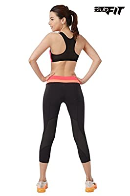 ClubFit Women's Activewear Cool Dry Sports Bra with Exchangeable Bra Paddings