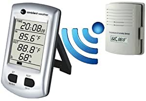 Ambient Weather WS-0101 Wireless Thermo-Hygrometer with Indoor Temperature and Outdoor Temperature and Humidity