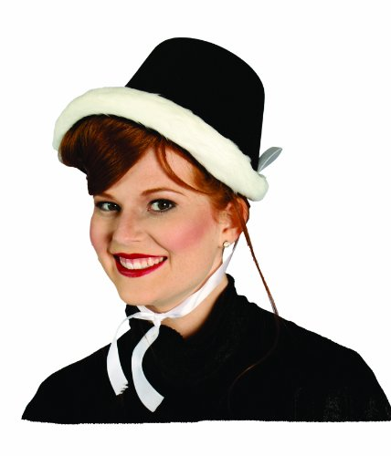 Alexanders Costumes Dickens Caroler Hat, Black, One Size ()