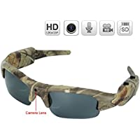 WISEUP 16GB 1280x720P HD Hidden Camera Hunting Glasses Video Recorder Mini DV Camcorder Support Photo Taking