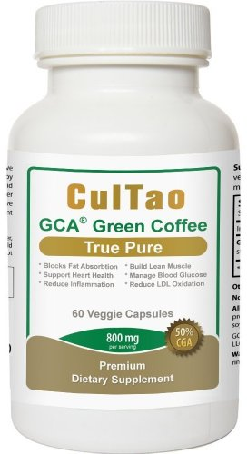 Premium GCA® Green Coffee Bean Extract 800mg per Serving, The ONLY Product With 100% Pure Clinically Proven GCA® (50% Chlorogenic Acid), Extra Strength for Powerful Weight Loss, Block Sugar Absorption, No Side Effect & Fillers & Binders, 100% Natural