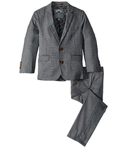 Appaman Kids Baby Boy's Two-Piece Mod Suit (Toddler/Little Kids/Big Kids) Grey Glen Plaid 2T
