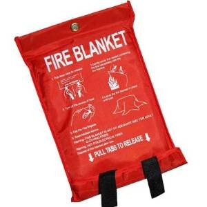 2 X Quick Release Home Extinguisher Fibreglass Fire Blanket Elitezotec®