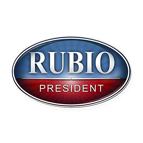 CafePress Marco Rubio for President 2016 Oval Car Magnet Oval Car Magnet, Euro Oval Magnetic Bumper Sticker (Marco Rubio For President 2016 Bumper Sticker)