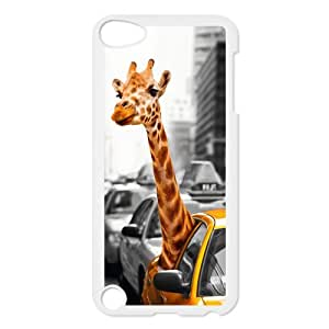iPod Touch 5 cover case,Funny Giraffe Waterproof Case for iPod touch 5,Screen Protectors for Apple iPod Touch 5th Generation,Durable Back Case Cover Protector for Apple iPod Touch 5/5th gen