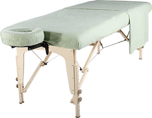 - Master Massage Universal Massage Table Flannel Sheet Set 3 in 1 Table Cover, Face Cushion Cover, Table Sheet, Lily Green