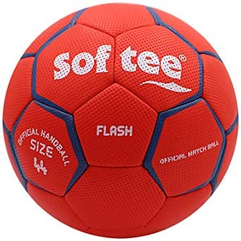 Balon Balonmano Softee Flash - 48CM - Color Rojo Y Blanco: Amazon ...