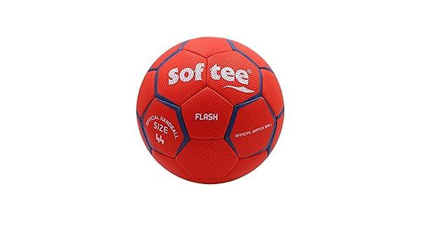 Balon Balonmano Softee Flash - 48CM - Color Rojo Y Blanco: Amazon ...