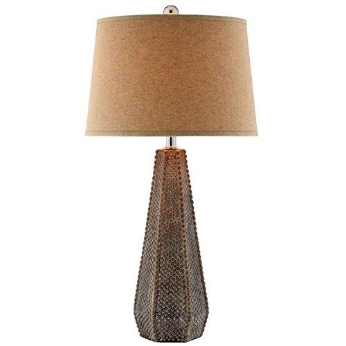 Table Lamp / Desk Lamp, Contemporary/Rustic Halifax Ceramic Table Lamp 99625, Brown