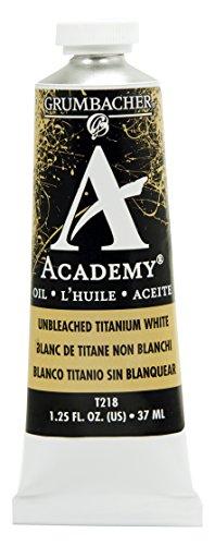 Grumbacher Academy Oil Paint, 37ml/1.25 Ounce, Unbleached Titanium White (T218)