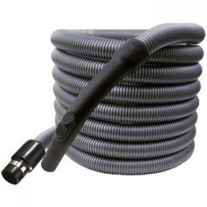 Tubo flessibile standard lunghezza mt 9 Ø32 completo di raccordo tubo-presa con anello di contatto e impugnatura in plastica con regolatore di pressione (Per impianto aspirapolvere centralizzato) G.M. SERVICE AIR