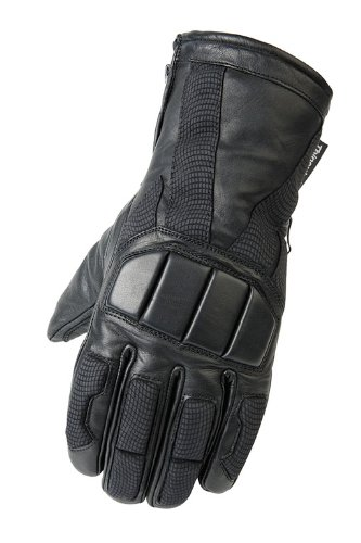 Mossi Leather Snowmobile Gloves (Black, ()