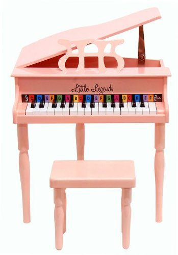LITTLE LEGENDS 30 KEYS CONCERT BABY GRAND PIANO PINK LLBGD30P/C by Little Legends