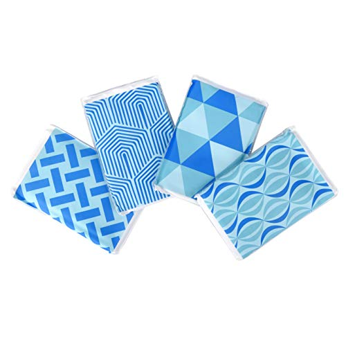 [New] Ice Pack for Lunch Boxes, Injuries, and Breast Milk - Cool Print Bag Designs   Long Lasting Reusable Ice Packs for Your Food and Cooler Bag (Pack of 4) ()
