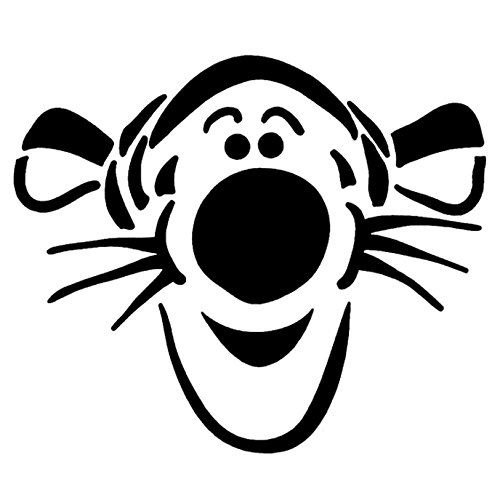 10.1' Laptop - ANGDEST Tigger Tiger LOGO ICON SYMBOL (BLACK) (set of 2) Premium Waterproof Vinyl Decal Stickers Laptop Phone Accessory Helmet Car Window Bumper Mug Tuber Cup Door Wall Decoration