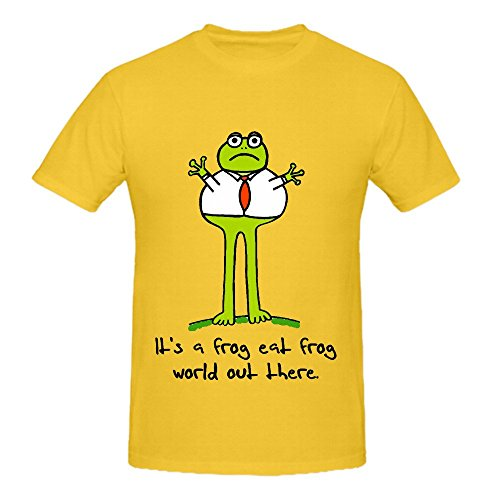 Its A Frog Eat World Out There Men O Neck Customized T Shirts - T-shirt Edward Fitted