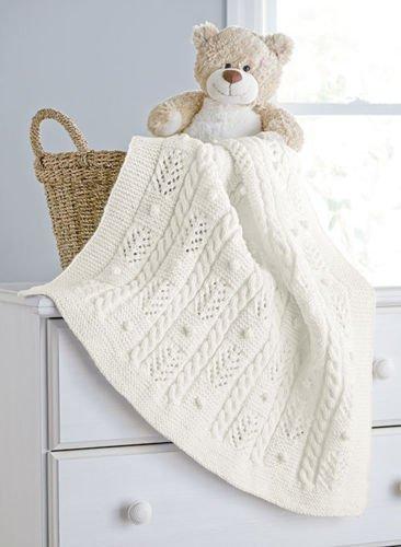 Cables and Bobbles Blanket - Aran Irish Tweed Knit Kit