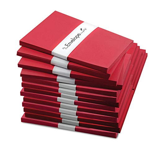 240 Pack of Rich Red 5 x 7 Inch Envelopes (Not A7 - Fits Cards Smaller Than 5x7) - Envelope for Christmas or Holiday Cards, Invitations, Greeting Card, Letter - 28lb Fine Smooth Paper ENV5X7RED240 (Letter Christmas Party Company Invitation)
