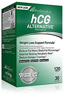 Biogentic Laboratories hCG Alternative Weight Loss Formula | 30 Day Supply (120 Capsules per Bottle) Bonus Diet Plan Included | Hormone-Free Stimulant-Free