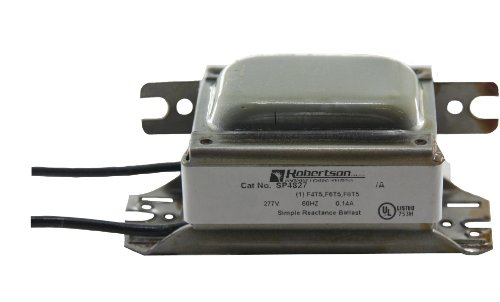 (ROBERTSON 3P10075 SP4827 AM Fluorescent mBallast for 1 F4T5, F6T5 or F8T5 Linear Lamp, Preheat Start, 277Vac, 60Hz, Normal Ballast Factor, NPF)
