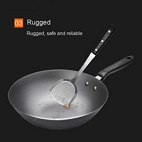 Gaoye Cuisinière à gaz universelle Wok Iron Iron 30 cm avec fonte en pot
