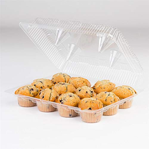 Detroit Forming LBH9222 Clear Hinged Cupcake or Muffin Container 100 Per Case by Detroit Forming