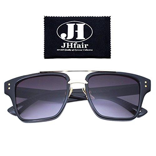 JHfair Designer Square Aviator Wayfarer Fashion Women Mens Sunglasses Metal - 2017 Glasses Hipster