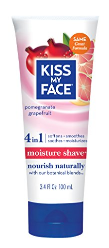 Kiss My Face Moisture Shave Shaving Cream, Pomegranate Grapefruit, 3.4 Ounce Travel Size by Kiss My Face