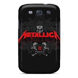 Ultra Slim Fit Hard Leoldfcto744 Cases Covers Specially Made For Galaxy S3- Metallica