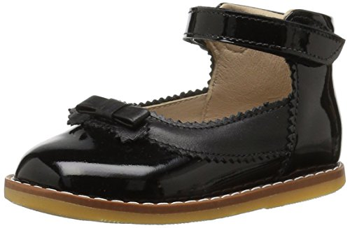 Elephantito Girls' Mary Jane with Bow Flat, Black Patent, 6.5 M US Toddler for $<!--$58.81-->
