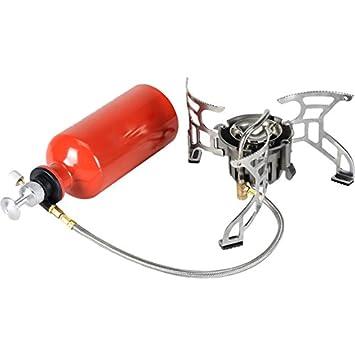 Splav Camping estufa Dual Track Multi combustible Gasolina Gas butano y propano quemador de gas, color blanco: Amazon.es: Deportes y aire libre