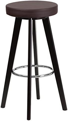Flash Furniture Trenton Series 29'' High Contemporary Cappuccino Wood Barstool