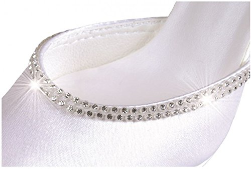 Strass Brautschuhe Hochzeitsschuhe Schuhe Pumps Weiß