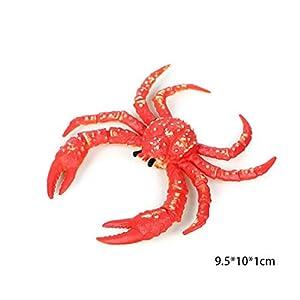Dearmy Sea Animal Squid Screw Crab Toys 1pcs Mini Realistic Life Figures Educational Vinyl Plastic Toys Creatures Bath…