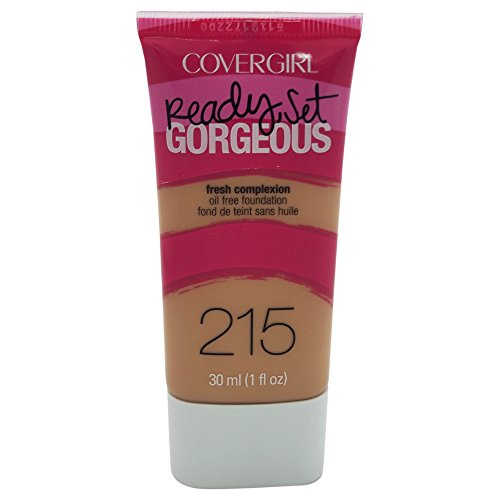 COVERGIRL Ready Set Gorgeous Foundation Warm Beige 215, 1 oz (packaging may vary)