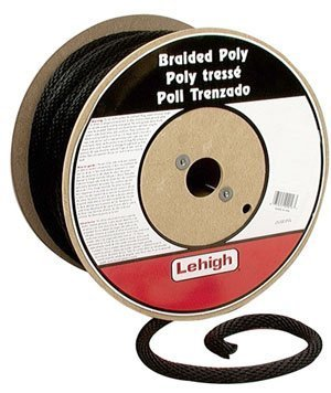 Lehigh Secure Line BKSBP582 Solid Braid Polypropylene Derby Rope, 5|8-Inch by 200-Foot, Black by Lehigh Secure Line