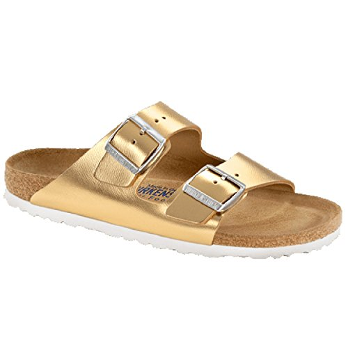 Birkenstock Arizona Glattleder Sandale Weichbettung normal metallic gold - 36
