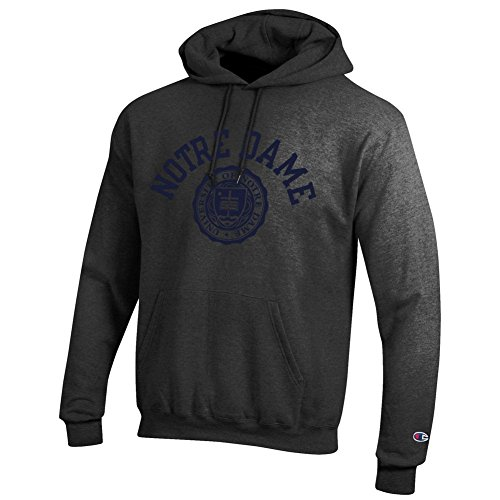 Elite Fan Shop Notre Dame Fighting Irish Hoodie Sweatshirt Seal Charcoal - M