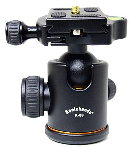 Koolehaoda Camera Tripod Ball Head 360 Degree Fluid Rotation Ballhead with Quick Release Plate for Tripod SLR Camera. Max Load: 15kg .