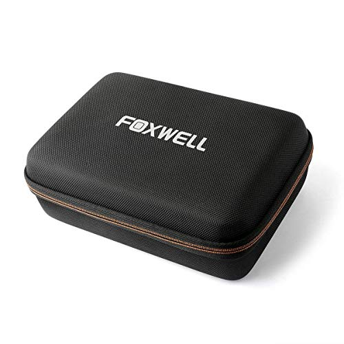 FOXWELL Hard Protection Carrying Case for NT510 Obd2 Code Reader Check Engine Light Scanner and Diagnostic Scan Tool - Polyester Fibre & EVA Travel Case (Black) (Hyundai Santa Fe Check Engine Light Reset)