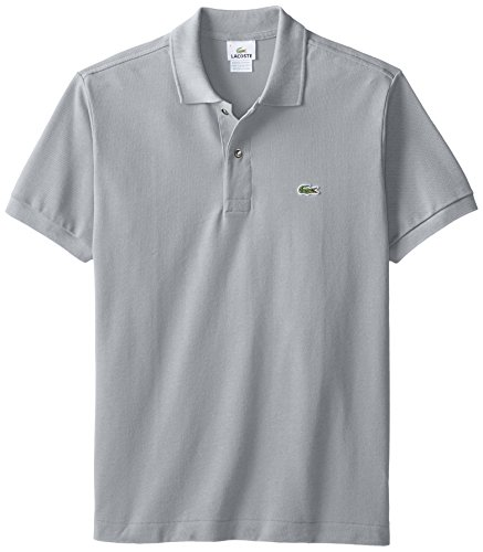 Lacoste Men's Classic Short Sleeve L.12.12 Pique Polo Shirt,Platinum Grey,X-Large