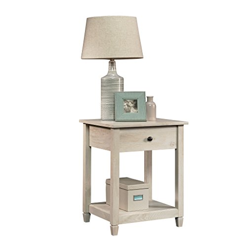 Sauder 419239 Edge Water Side Table, L 19.45 x W 18.50 x H 24.29 , Chalked Chestnut finish
